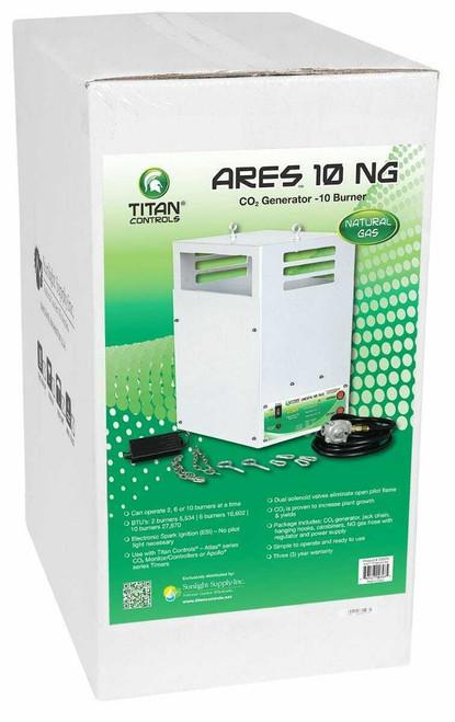 Titan Controls Ares 10 - Ten Burner NG CO2 Generator - 27.7 CUFT/HR - 1