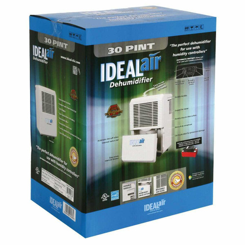 Ideal-Air Dehumidifier 22 Pint - Up to 30 Pints Per Day - 1