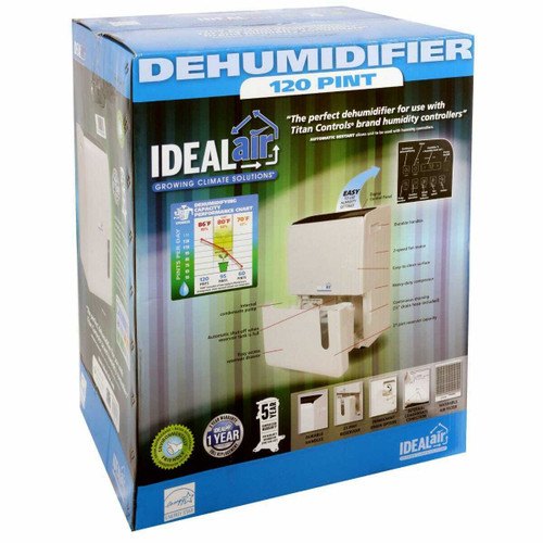 Ideal-Air Dehumidifier 120 Pint w/ Internal Condensate Pump - 1