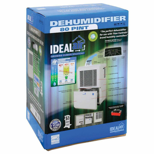 Ideal-Air Dehumidifier 50 Pint - Up to 80 Pints Per Day - 1