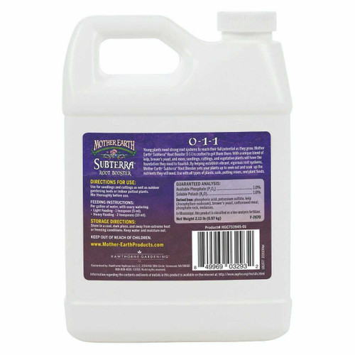 Mother Earth Subterra Root Booster 0-1-1 Quart - 1