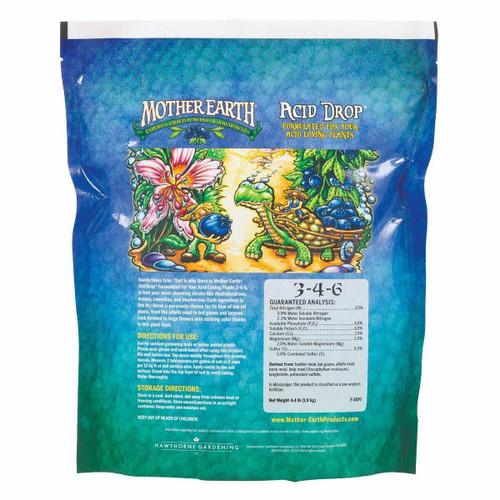 Mother Earth Acid Drop Formulated For Your Acid Loving Plants 3-4-6 4. 4LB - 1