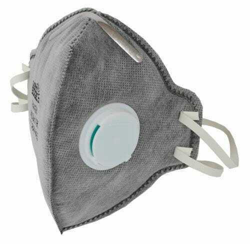 Grower's Edge Clean Room Vertical Fold-Flat Active Carbon Respirator Mask w/ Valve  Must buy 10 - 1
