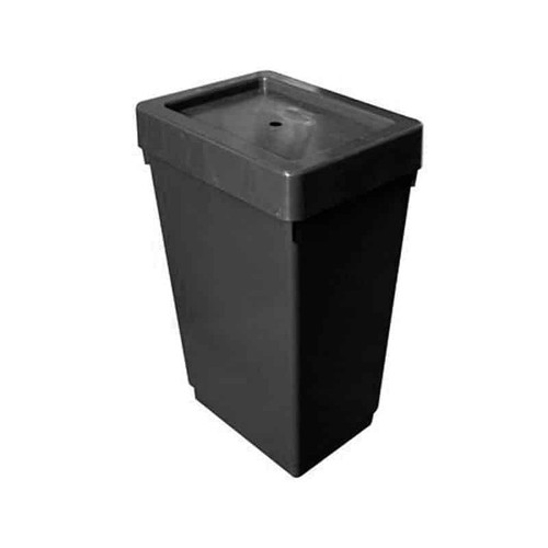 AutoPot 12.4 Gallon Black Tank with 1/4inch Grommet and Lid - 1