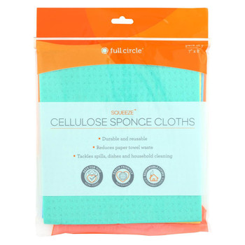 Full Circle Home - Squeeze Cellulose Sponge Cloths - 3 Count