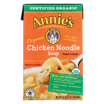 Annie's Homegrown Chicken Noodle Soup - Case of 8 - 17 oz.