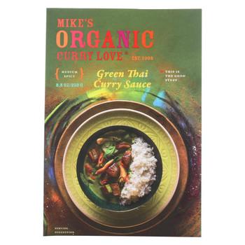 Mike's Organic Curry Love - Organic Curry Simmer Sauce - Green Thai - Case of 6 - 8.8 fl oz.