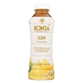 Bonta - Water - Glow Lemon Ginger - Case of 12 - 16 fl oz.