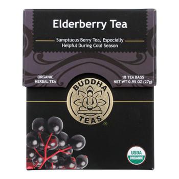 Buddha Teas - Organic Tea - Elderberry - Case of 6 - 18 Count