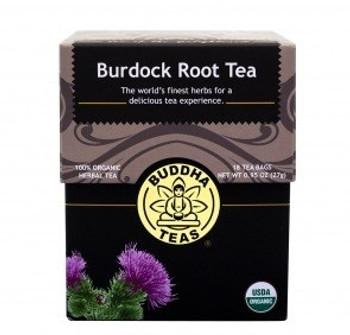 Buddha Teas - Organic Tea - Burdock Root - Case of 6 - 18 Count