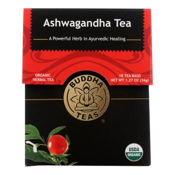 Buddha Teas - Organic Tea - Ashwaghanda - Case of 6 - 18 Count