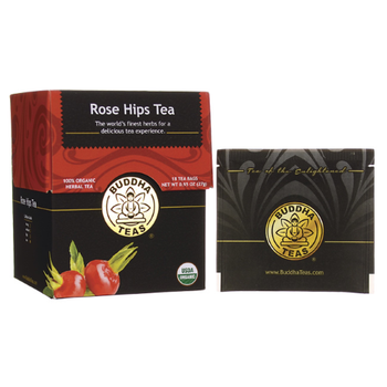 Buddha Teas - Organic Tea - Rosehips - Case of 6 - 18 Count