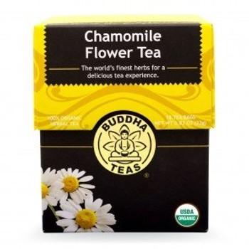 Buddha Teas - Organic Tea - Chamomile - Case of 6 - 18 Count