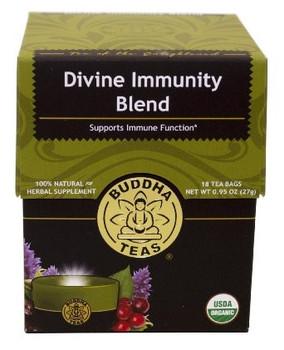 Buddha Teas - Organic Tea - Divine Immunity - Case of 6 - 18 Count