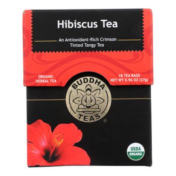 Buddha Teas - Organic Tea - Hibiscus - Case of 6 - 18 Count