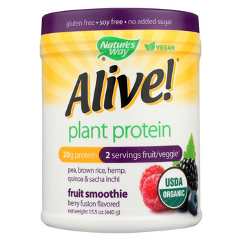 Nature's Way - Alive! Plant Protein Fruit Smoothie - Berry Fusion - 15.5 oz.