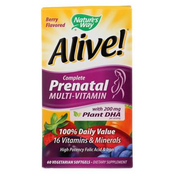 Nature's Way - Alive! Complete Prenatal Multi-Vitamin - 60 Vegetarian Softgels