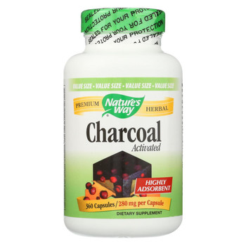 Nature's Way - Activated Charcoal - 360 Capsules