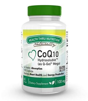 Health Thru Nutrition - Hydrosoluble CoQ-10 - 60 Softgels