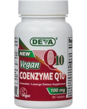 Deva Vegan Vitamins - Coenzyme Q10 100mg Vegan - 90 Tablets