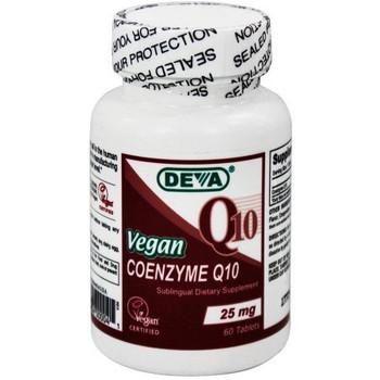 Deva Vegan Vitamins - Coenzyme Q10 25mg Vegan - 90 Tablets