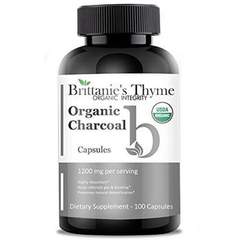 Brittanie's Thyme - Organic Charcoal Capsules - 100 Capsules