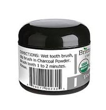 Brittanie's Thyme - Organic Charcoal Tooth Whitening Powder - 2 oz.