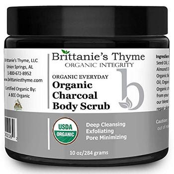 Brittanie's Thyme - Organic Charcoal Body Scrub - 10 oz.