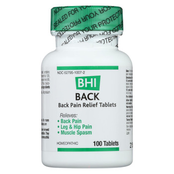 BHI - Back Pain Relief - 100 Tablets