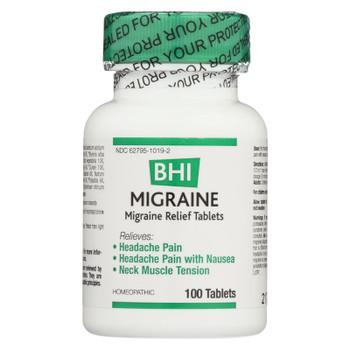 BHI - Migraine Relief - 100 Tablets