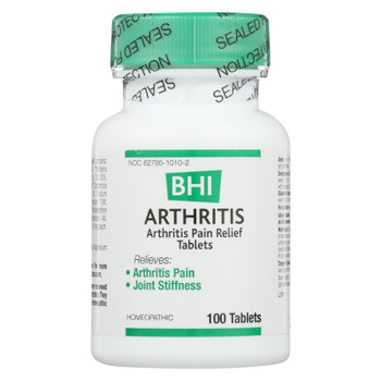 BHI - Arthritis Pain Relief - 100 Tablets