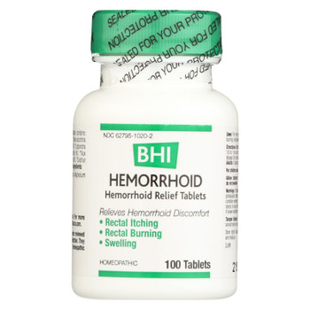 BHI - Hemorroid Relief - 100 Tablets
