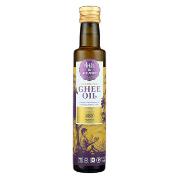 4th & Heart - Ghee Oil - Garlic Pourable - Case of 6 - 8.5 oz.