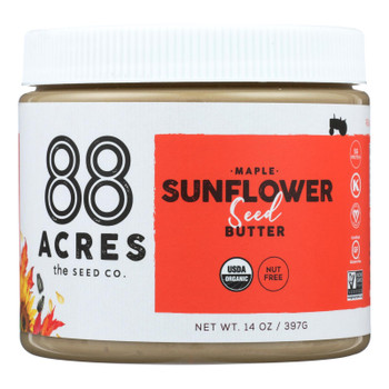 88 Acres - Seed Butter - Organic Maple Sunflower - Case of 6 - 14 oz.