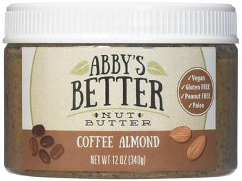 Abby's Better Nut Butter - Coffee Almond Nut Butter - Case of 6 - 12 oz.