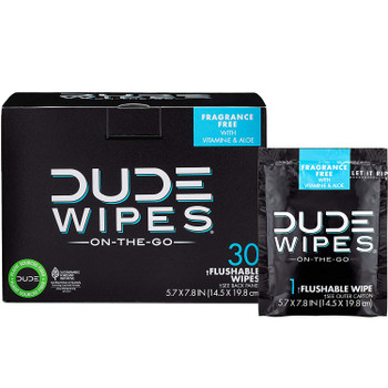 Dude Wipes - Wipes Travel Singles - 30 ct.
