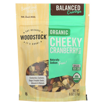 Woodstock - Organic Trail Mix - Cheeky Cranberry - Case of 8 - 6 oz.