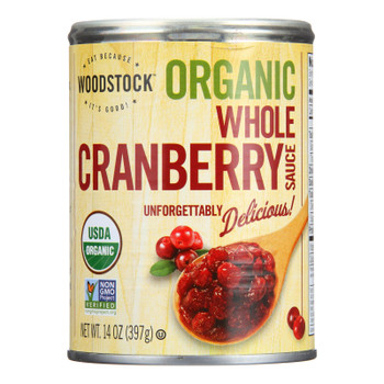Woodstock - Organic Cranberry Sauce - Whole - Case of 12 - 14 oz.