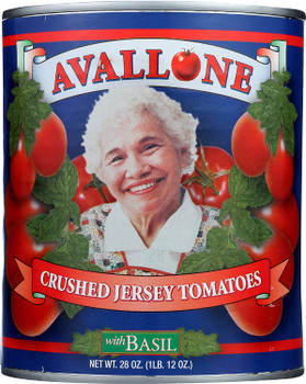 Avallone Tomatoes - Tomatoes Crushed Jersey - Case of 12 - 28 OZ