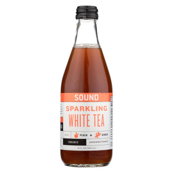 Sound Sparkling Tea Sound Sparkling White Tea Peach + Ginger - Case of 12 - 12 FZ