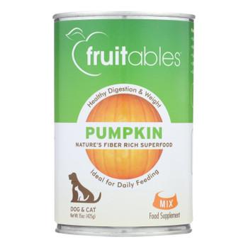 Fruitables - Pet Puree Pumpkin Can - Case of 12 - 15 OZ