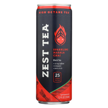 Zest Tea - Black Tea Rtd Chai Infusion - Case of 12 - 12 OZ