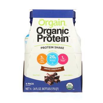 Orgain Creamy Chocolate Nutritional Protein Shake - Case of 12 - 14 FZ