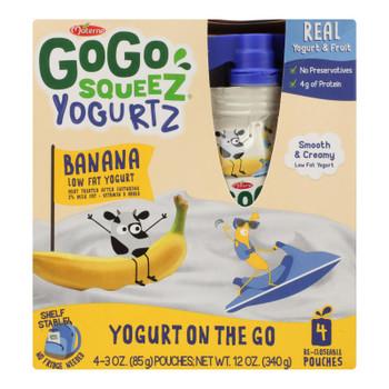Gogo Squeez Yogurtz Low Fat Yogurt - Case of 12 - 4/3 OZ
