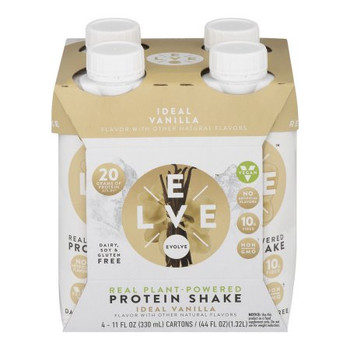 Evolve Ideal Vanilla Protein Shakes - Case of 3 - 4/11 OZ