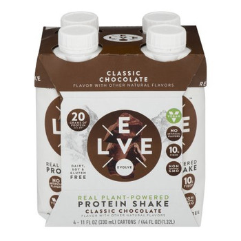 Evolve Classic Chocolate Protein Shakes - Case of 3 - 4/11 OZ