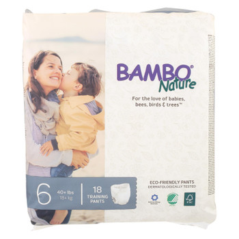 Bambo Nature Size 6 Training Pants  - Case of 5 - 18 CT