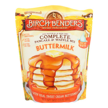 Birch Benders Pancake & Waffle Mix Buttermilk  - Case of 6 - 24 OZ