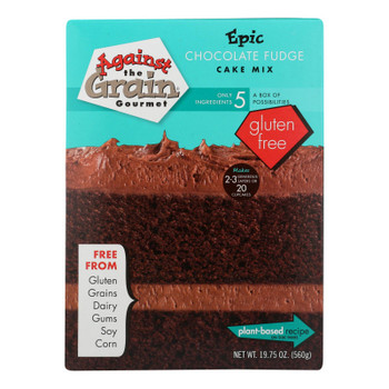 Against The Grain Gourmet® Epic Chocolate Fudge Cake Mix Chocolate Fudge - Case of 6 - 19.75 OZ