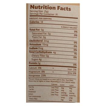 Just Panela Handcrafted Unrefined & Organic Cane Sugar  - Case of 8 - 16 OZ